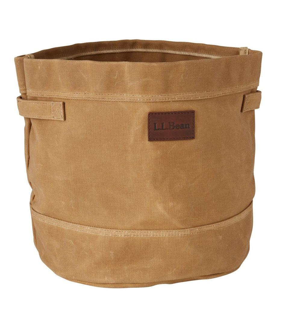 Waxed-Canvas Storage Tote
