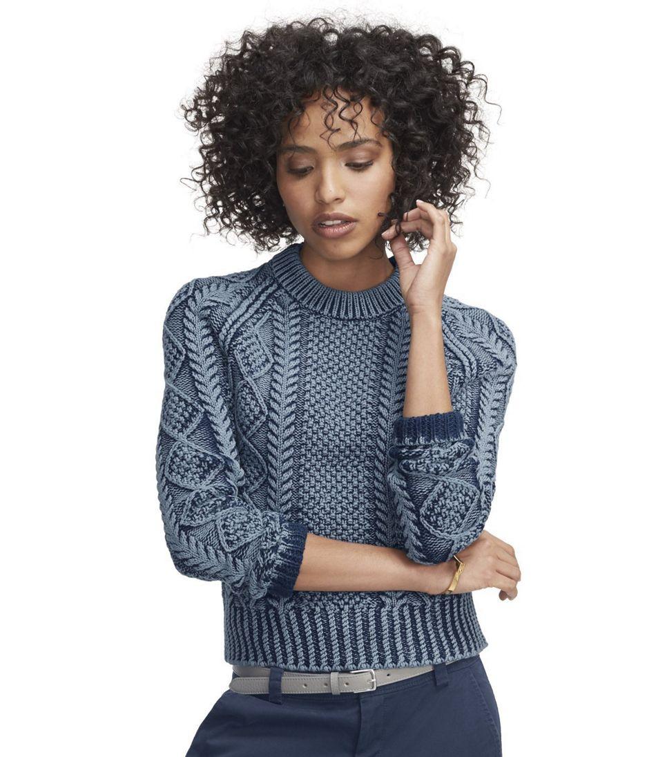 Signature Cotton Fisherman Sweater, Washed