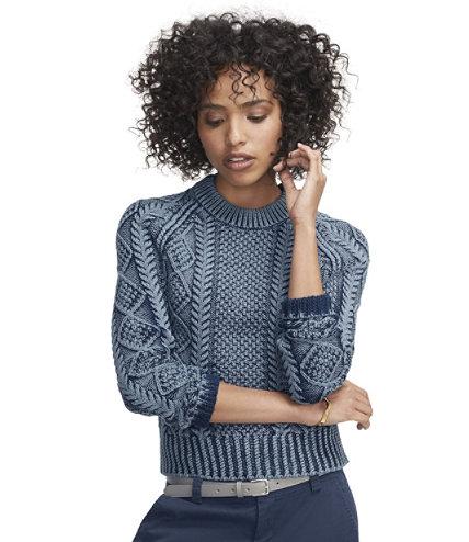 Women's Signature Cotton Fisherman Sweater, Washed | Free Shipping ...