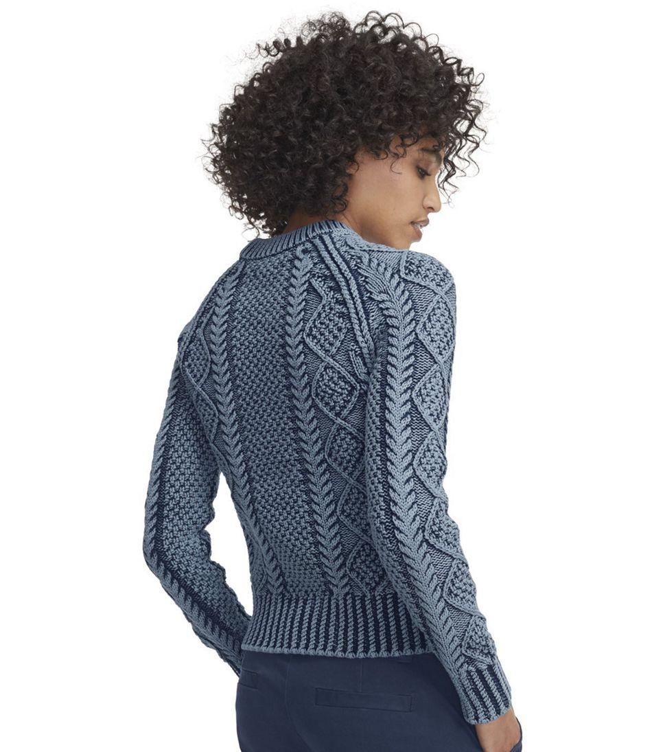 Women's Signature Cotton Fisherman Sweater, Washed