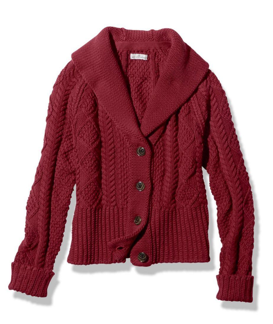 Signature Cotton Fisherman Cardigan Sweater