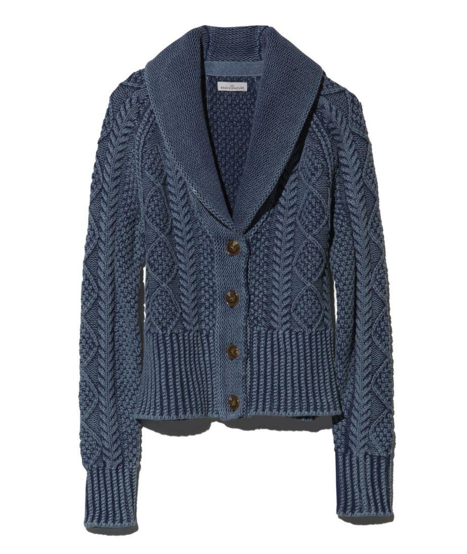 Signature Cotton Fisherman Cardigan Sweater, Washed