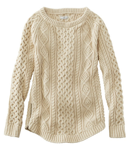 Women's Signature Cotton Fisherman Tunic Sweater | Free Shipping ...