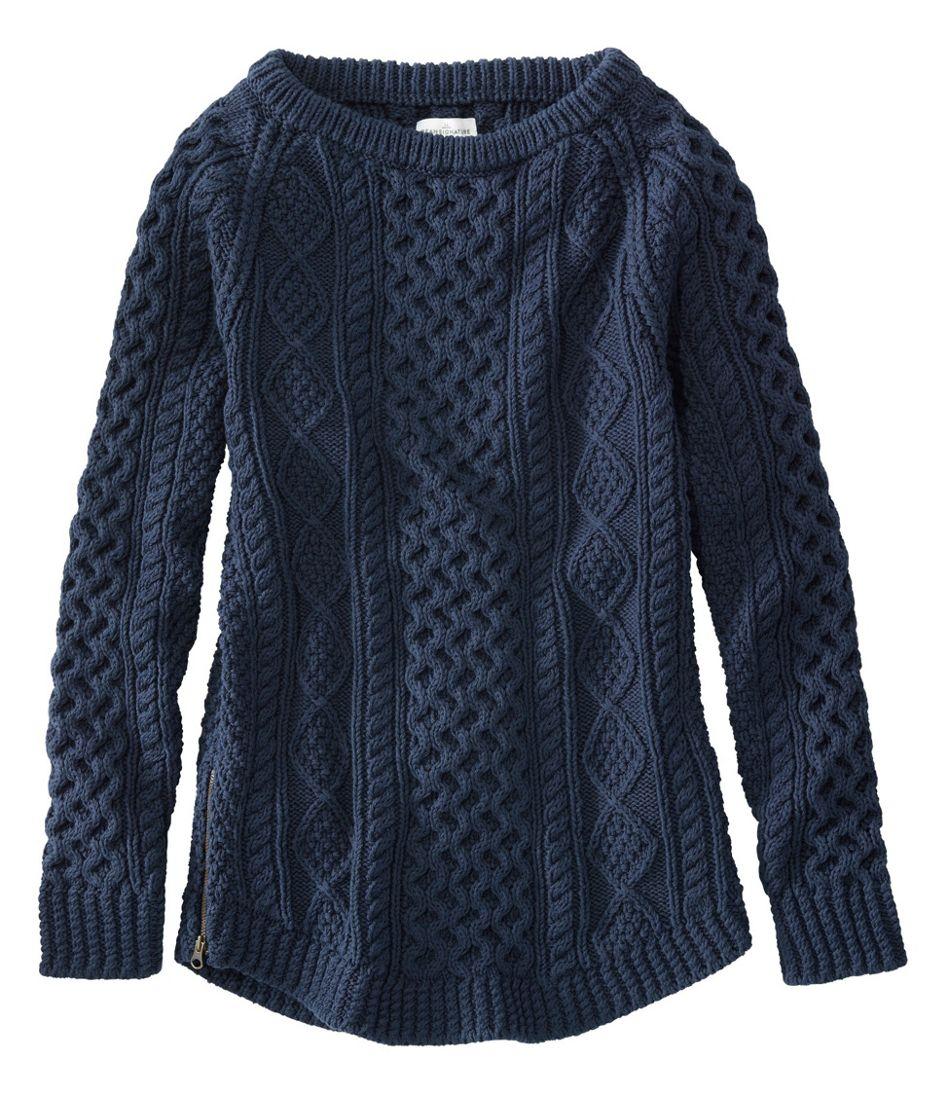 Signature Cotton Fisherman Tunic Sweater