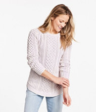 Signature Cotton Fisherman Tunic Sweater, Washed