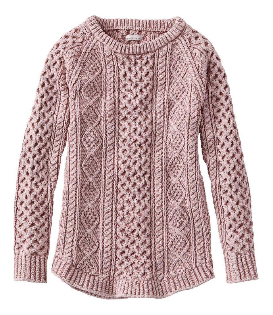 Women's Signature Cotton Fisherman Tunic Sweater, Washed