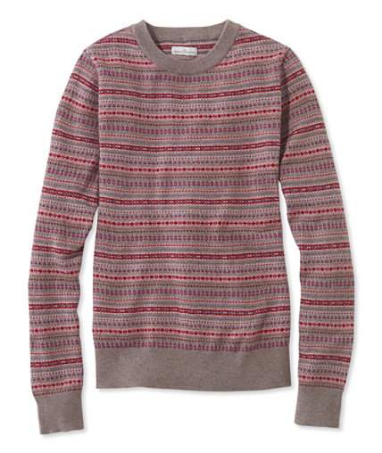 Signature Merino Crewneck Sweater, Fair Isle | Free Shipping at ...