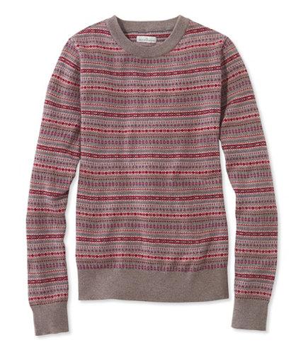 Signature Merino Crewneck Sweater, Fair Isle   Free Shipping at ...