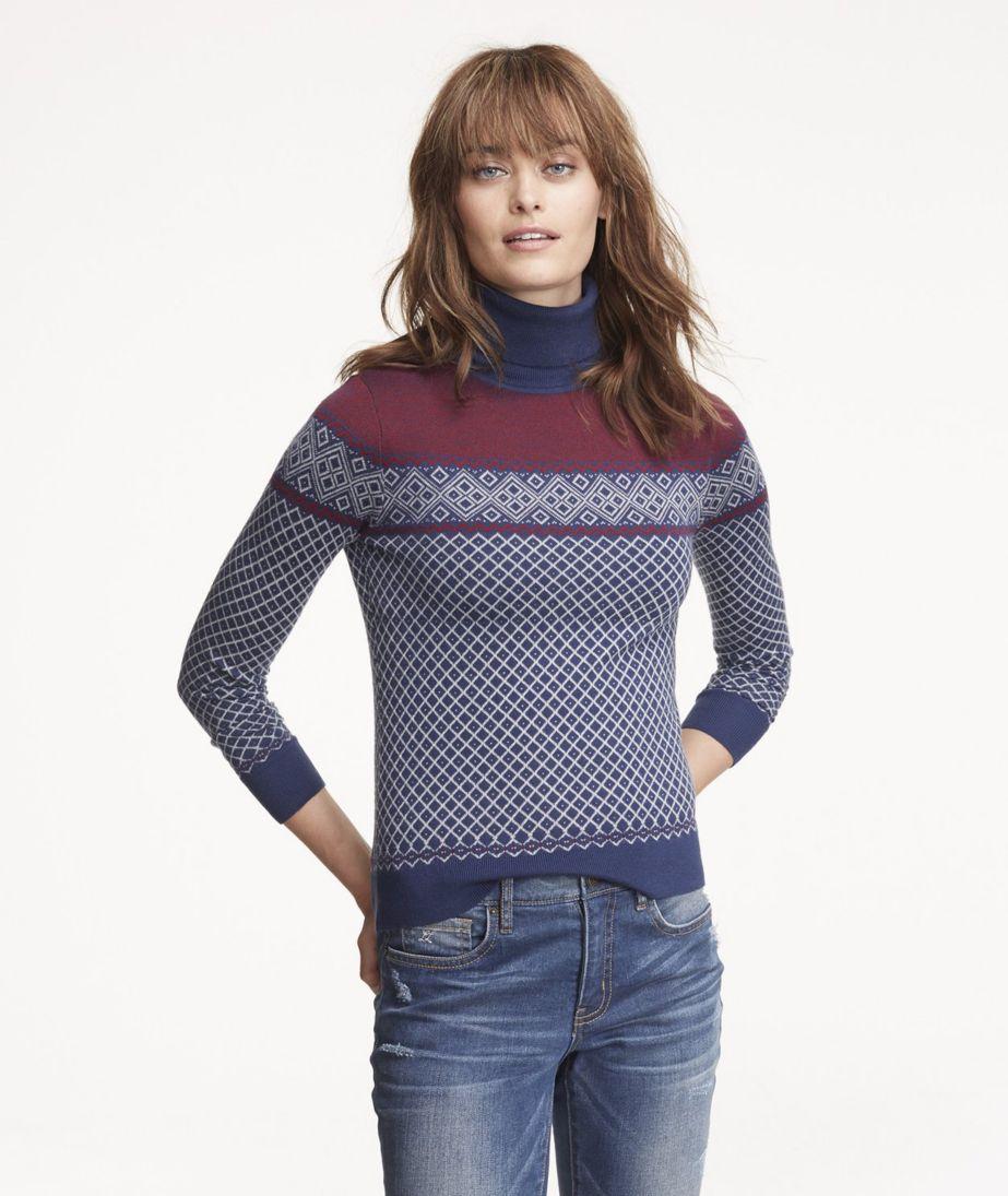 Signature Merino Turtleneck Sweater, Fair Isle