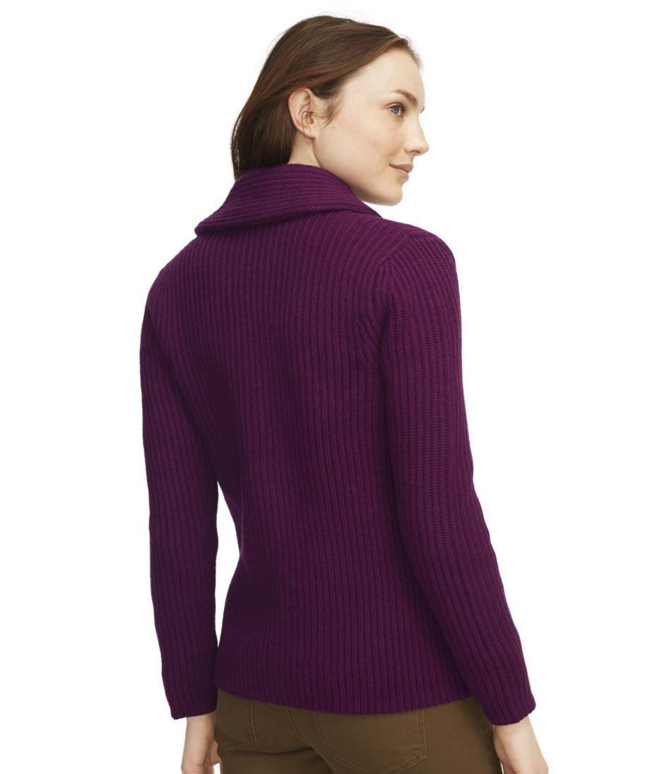 Signature Wool Shawl-Collar Cardigan