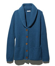 Signature Wool Shawl-Collar Cardigan