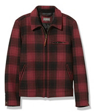 Signature Wool Bomber Jacket, Plaid