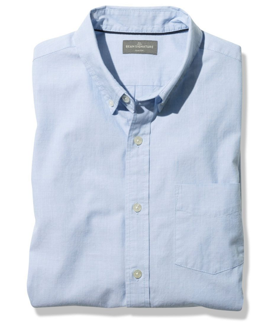 Signature End-on-End Shirt, Slim Fit