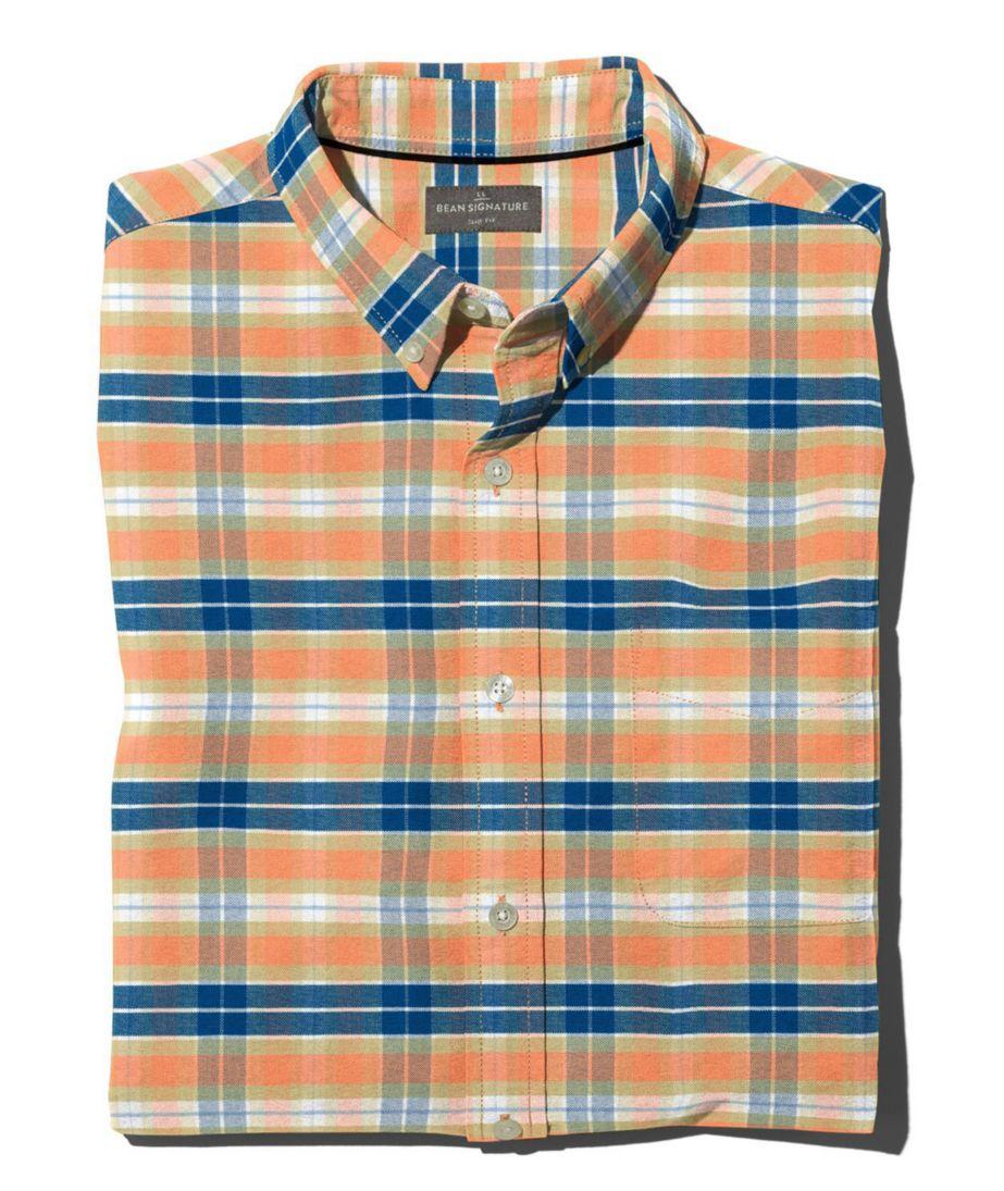 Signature Washed Oxford Cloth Shirt, Plaid Slim Fit