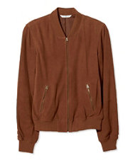 Signature Suede Baseball Jacket