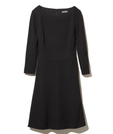 Signature Ponte Dress, Three-Quarter-Sleeve