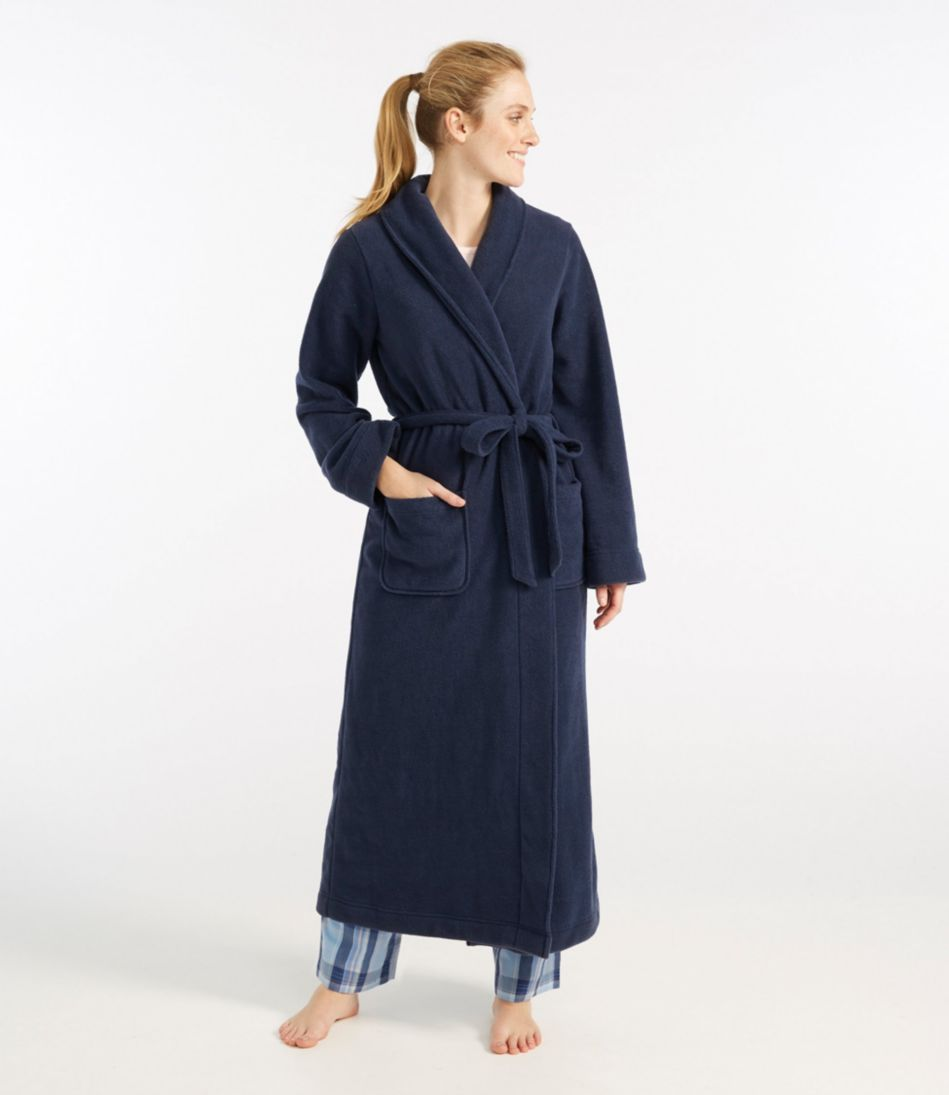 Winter Fleece Robe, Wrap-Front