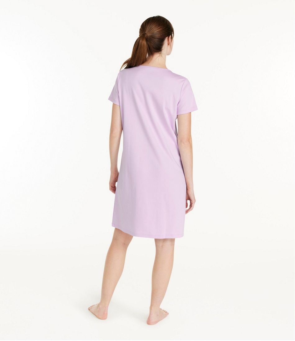Women's Supima Nightgown, Short-Sleeve