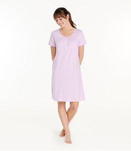 Women's Supima Nightgown, Short-Sleeve