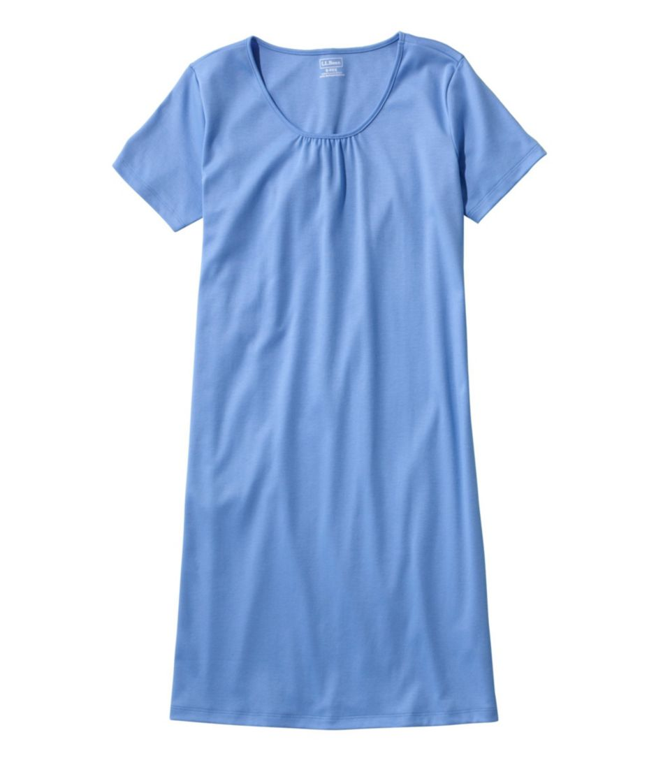 Supima Nightgown, Short-Sleeve