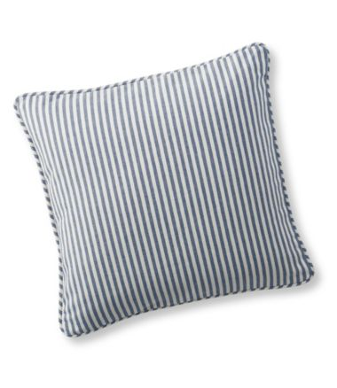 Washable Slipcover Throw Pillow, Striped
