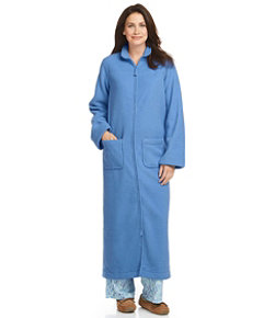 Women's Winter Fleece Robe, Zip-Front
