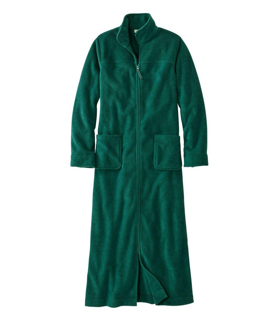Women's Winter Fleece Robe, Zip-Front