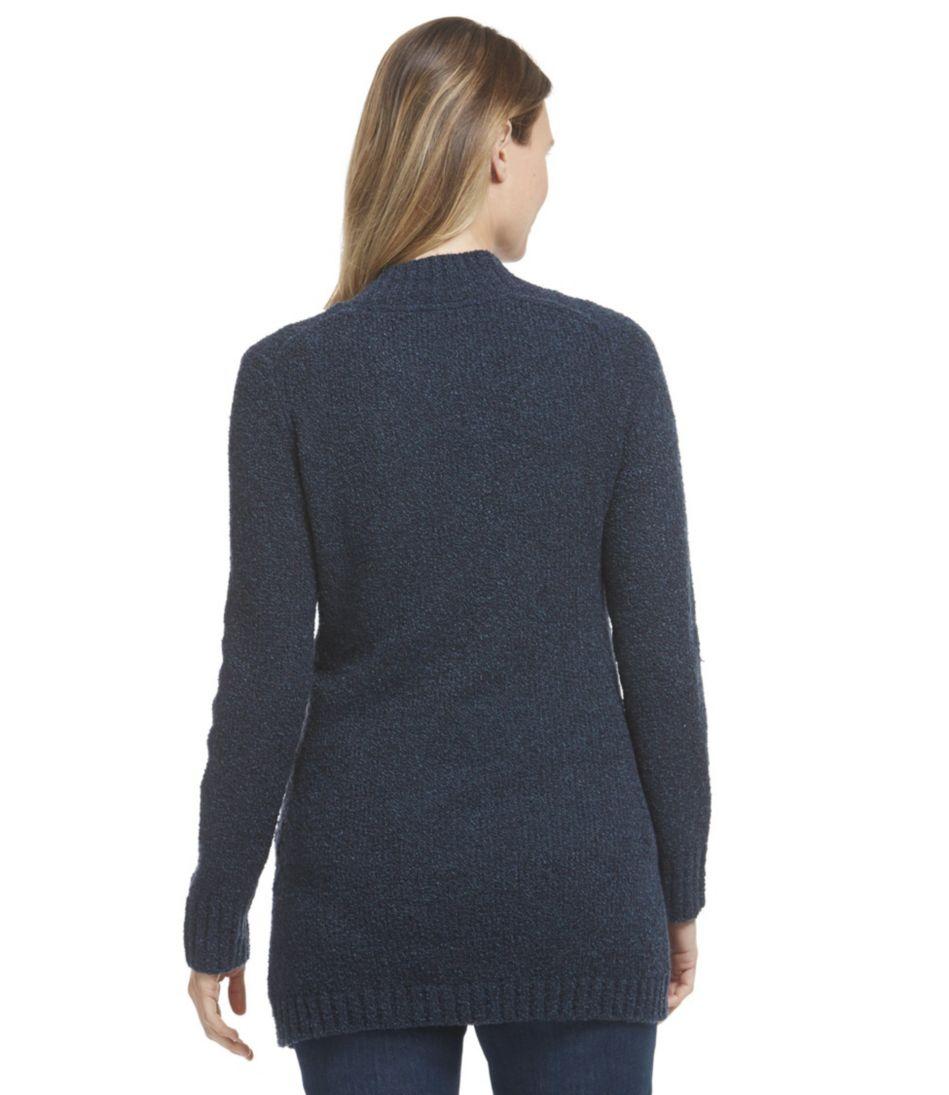 Cozy Bouclé Sweater, Open Cardigan