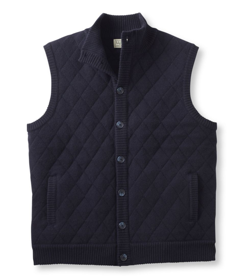 Lambswool Sweater, Quilted Vest