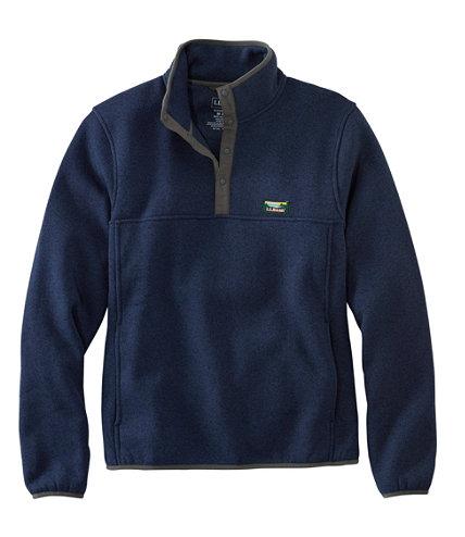 Men S L L Bean Sweater Fleece Pullover