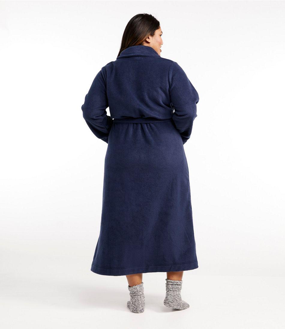 Women's Winter Fleece Robe, Wrap-Front