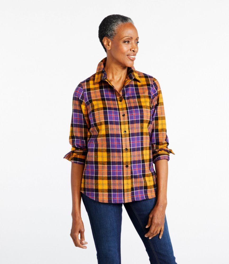 women\u0027s scotch plaid flannel shirt, slightly fittedscotch plaid flannel shirt, slightly fitted
