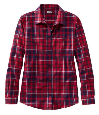 Women's Scotch Plaid Shirt, Slightly Fitted