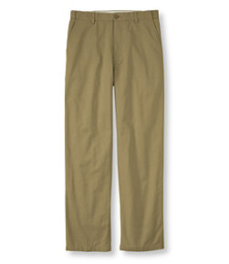 Men's Lined Double L Chinos, Natural Fit Hidden Comfort Waist Plain Front