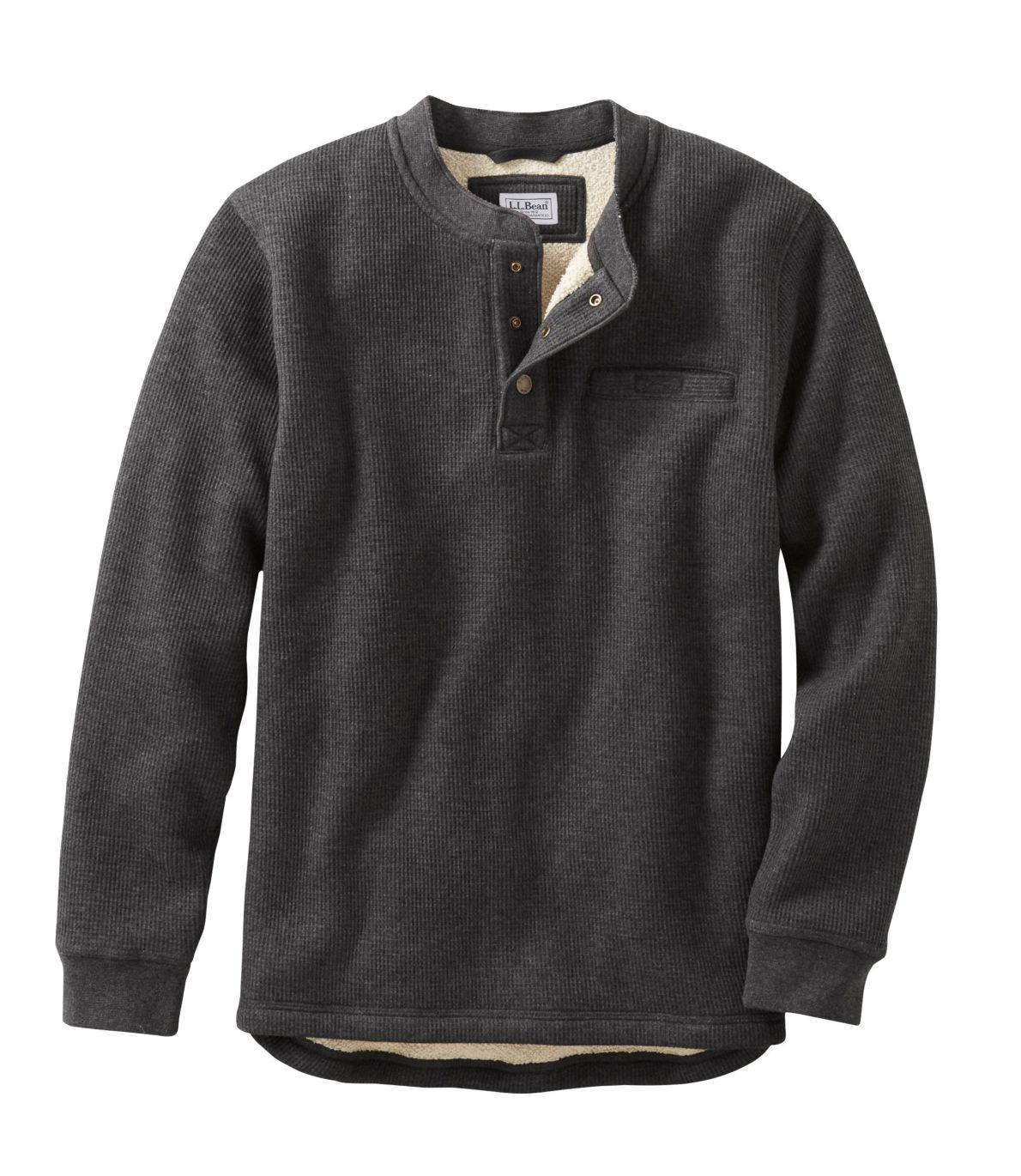 Men's Katahdin Iron Works Bonded Waffle Fleece Henley