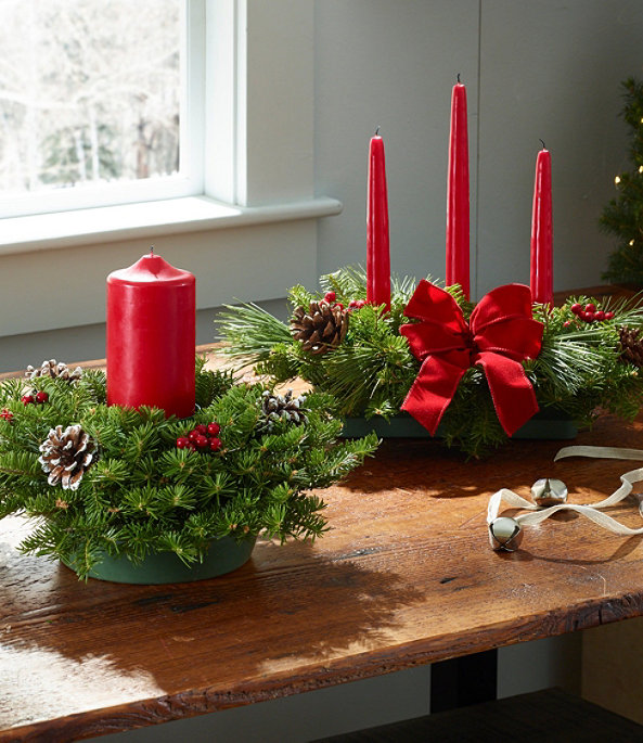 Traditional Balsam Candle Centerpiece Regular, One Color, large image number 2