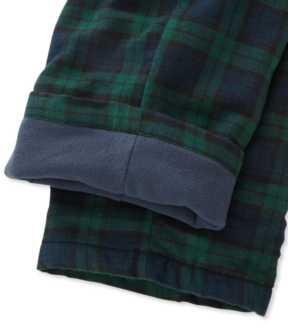 Scotch Plaid Flannel Sleep Pants, Fleece-Lined