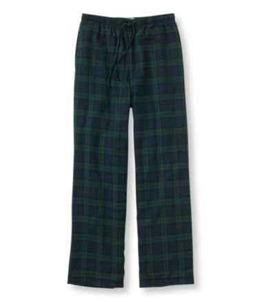 Scotch Plaid Flannel Sleep Pants, Fleece-Lined
