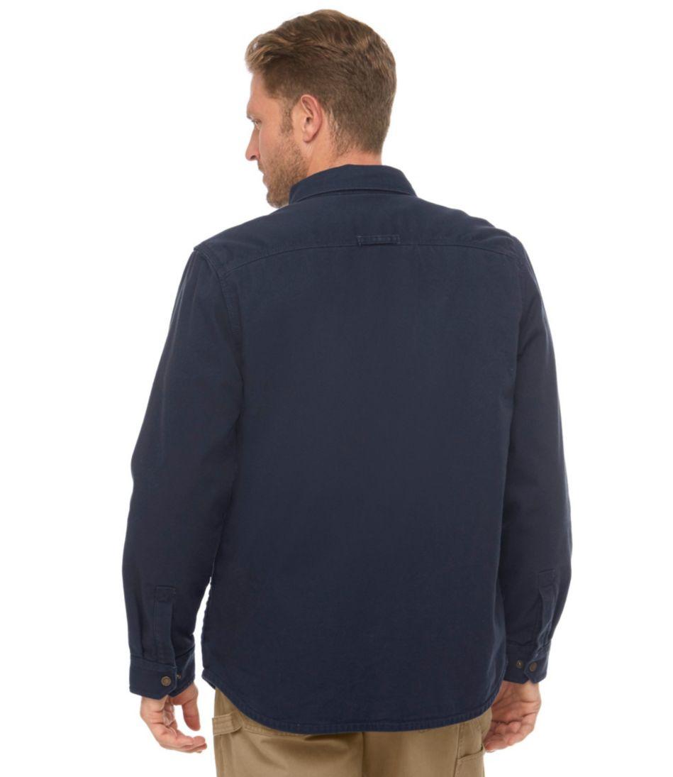 Katahdin Iron Works Fleece-Lined Canvas Shirt