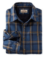 Men's Katahdin Iron Works Fleece-Lined Canvas Shirt