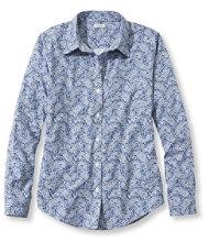 Wrinkle-Free Pinpoint Oxford Shirt, Relaxed Fit Long-Sleeve Paisley