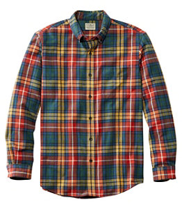 Men's Scotch Plaid Flannel Shirt, Slightly Fitted