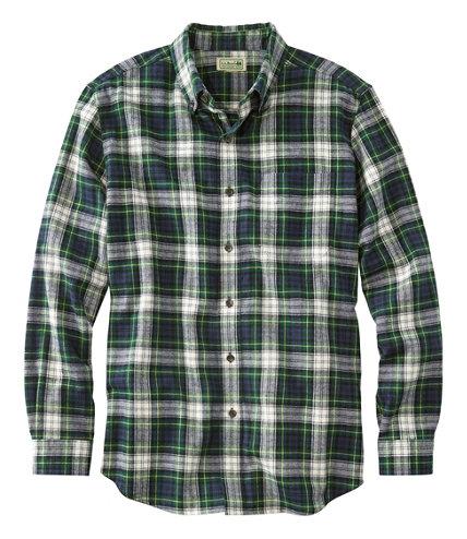 Men 39 s scotch plaid flannel shirt slightly fitted for Black watch plaid flannel shirt