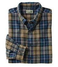 Scotch Plaid Flannel Shirt, Slightly Fitted