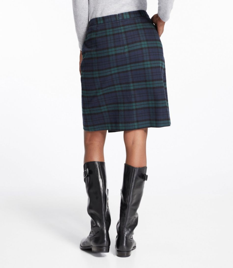 Weekend Faux Wrap Skirt, Plaid