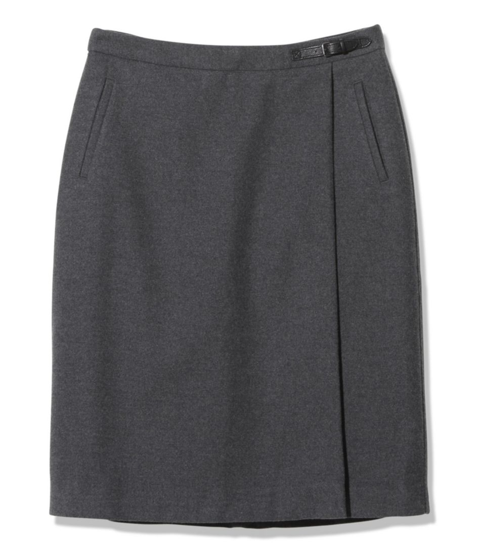 Weekend Faux Wrap Skirt, Heathered