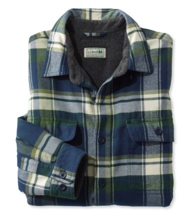 Fleece-Lined Flannel Shirt, Traditional Fit