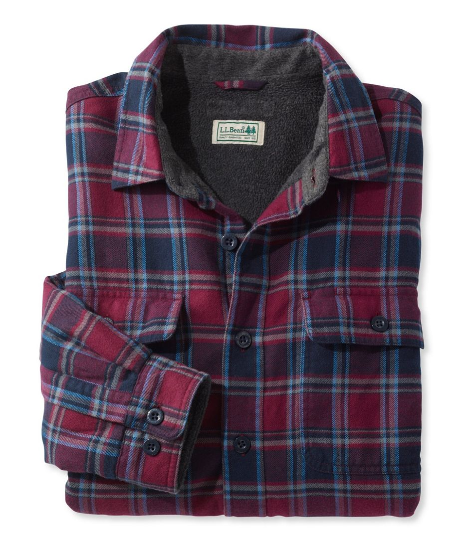 Mens Fleece Lined Flannel Shirt Traditional Fit Flanel Navy