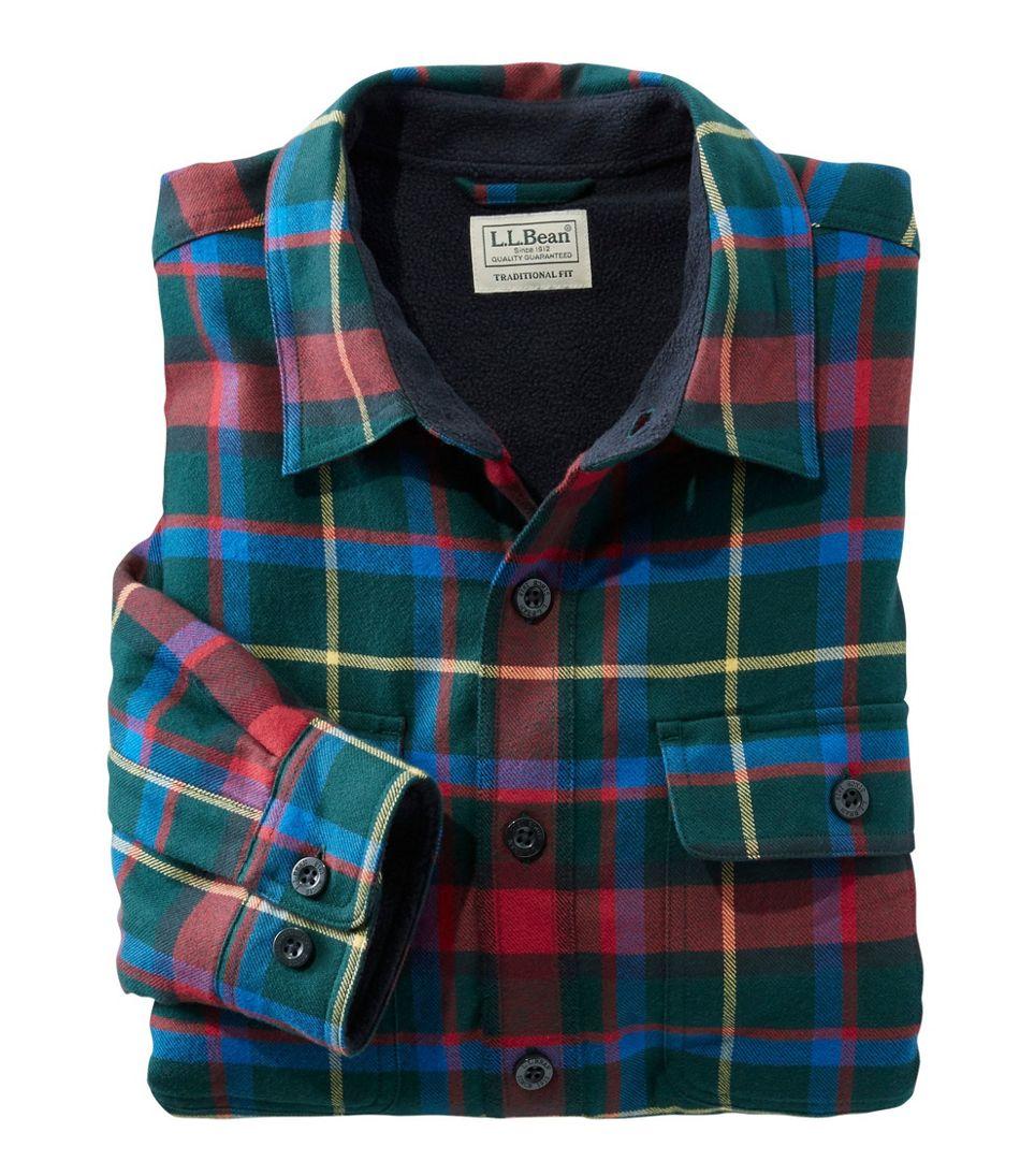 Men s Fleece-Lined Flannel Shirt e8ee90c385c