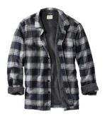 Men's Fleece-Lined Flannel Shirt, Traditional Fit